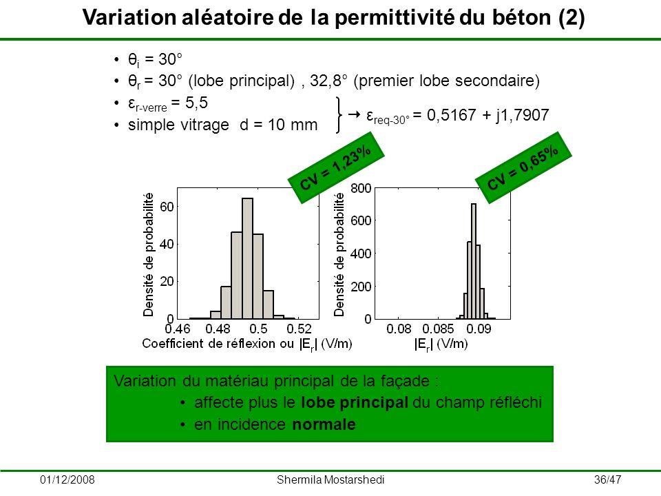 Variation aléatoire de la permittivité du béton (2)