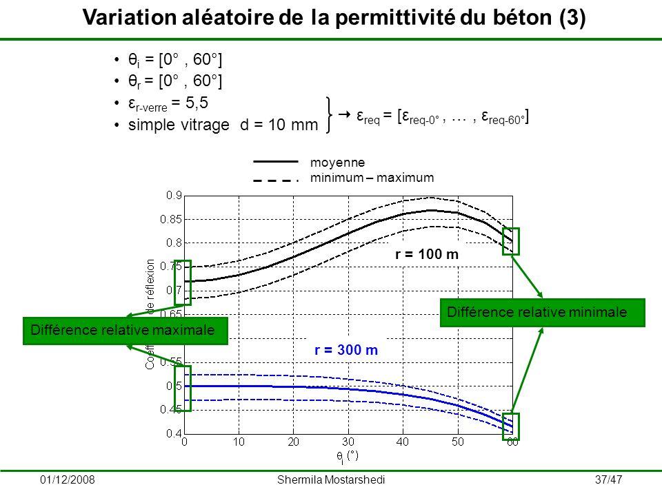 Variation aléatoire de la permittivité du béton (3)