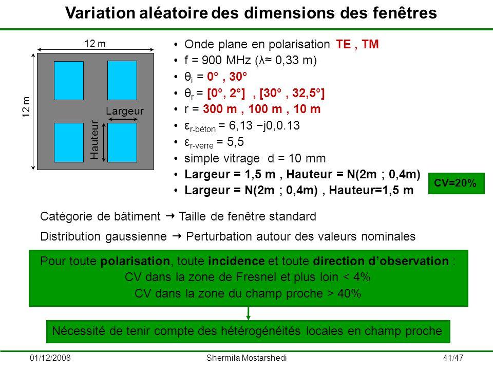Variation aléatoire des dimensions des fenêtres