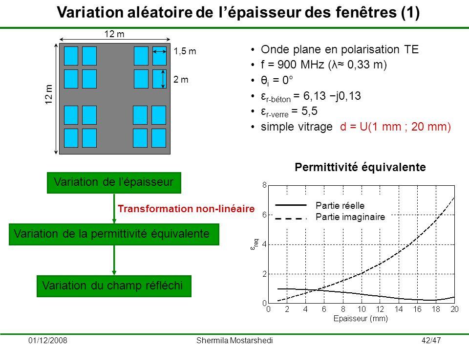 Variation aléatoire de l'épaisseur des fenêtres (1)