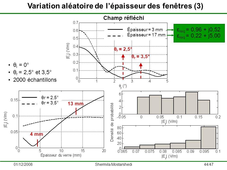Variation aléatoire de l'épaisseur des fenêtres (3)