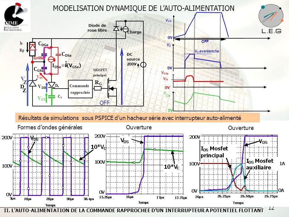 MODELISATION DYNAMIQUE DE L'AUTO-ALIMENTATION