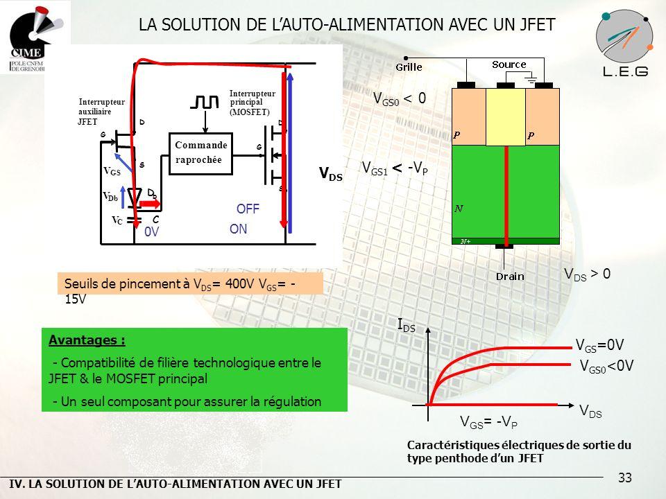 LA SOLUTION DE L'AUTO-ALIMENTATION AVEC UN JFET