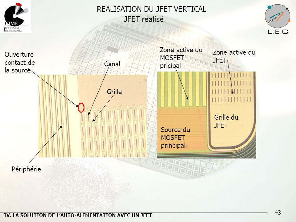 REALISATION DU JFET VERTICAL
