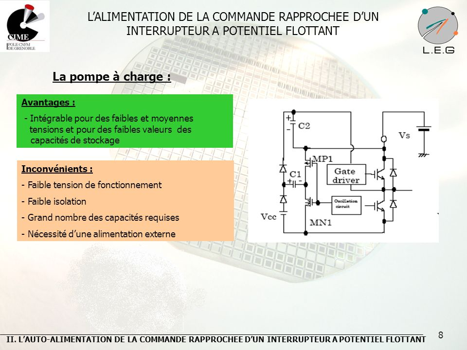 L'ALIMENTATION DE LA COMMANDE RAPPROCHEE D'UN INTERRUPTEUR A POTENTIEL FLOTTANT