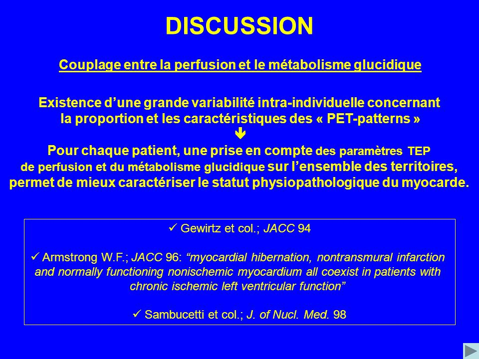 DISCUSSION Couplage entre la perfusion et le métabolisme glucidique