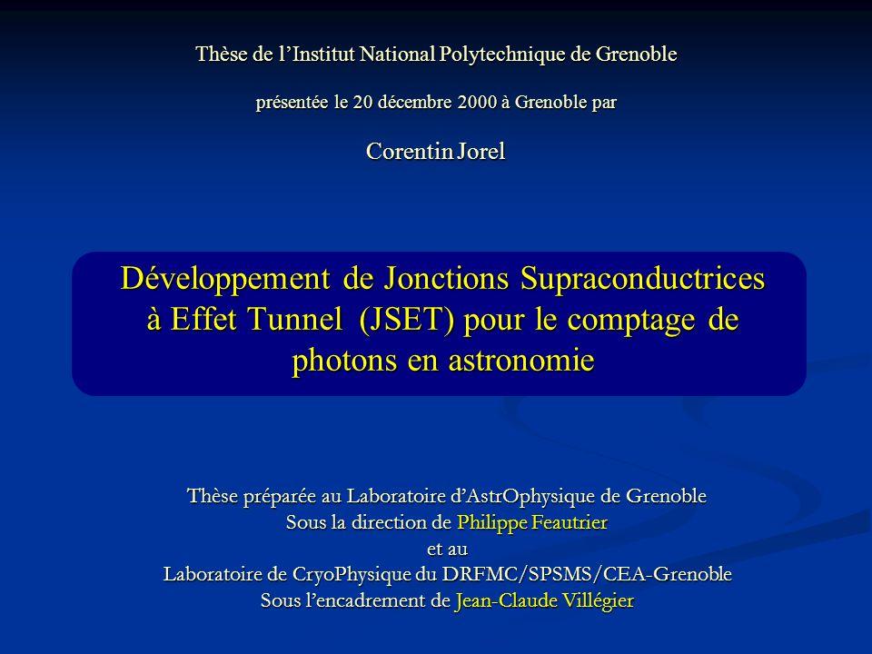 Thèse de l'Institut National Polytechnique de Grenoble présentée le 20 décembre 2000 à Grenoble par Corentin Jorel