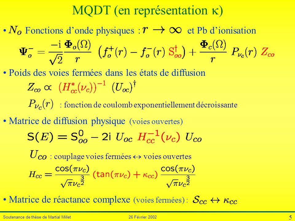 MQDT (en représentation )