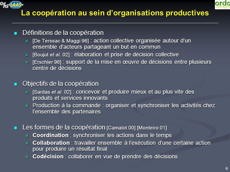 La coopération au sein d'organisations productives