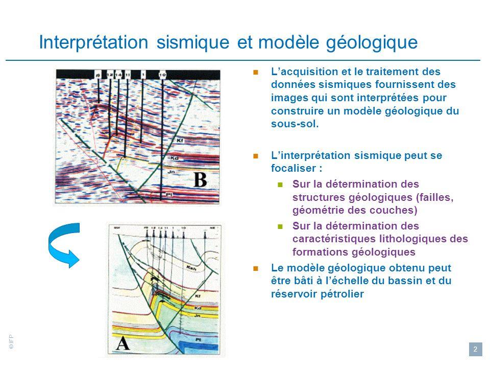 Interprétation sismique et modèle géologique