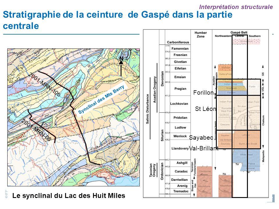 Stratigraphie de la ceinture de Gaspé dans la partie centrale
