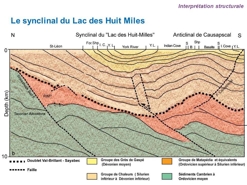 Le synclinal du Lac des Huit Miles