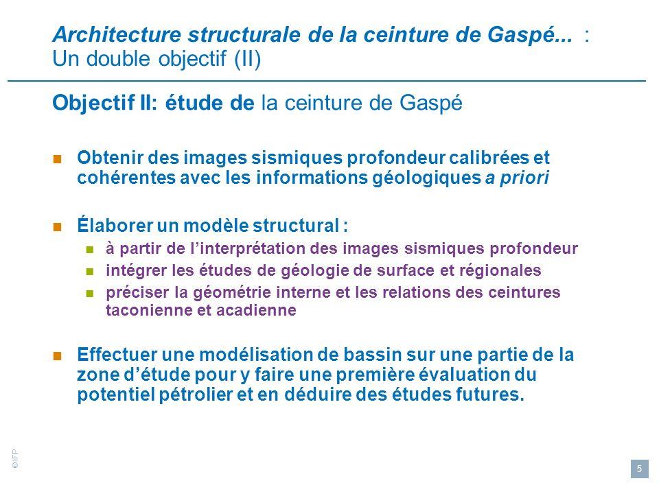 Objectif II: étude de la ceinture de Gaspé
