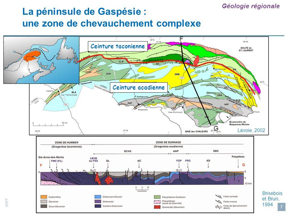La péninsule de Gaspésie : une zone de chevauchement complexe