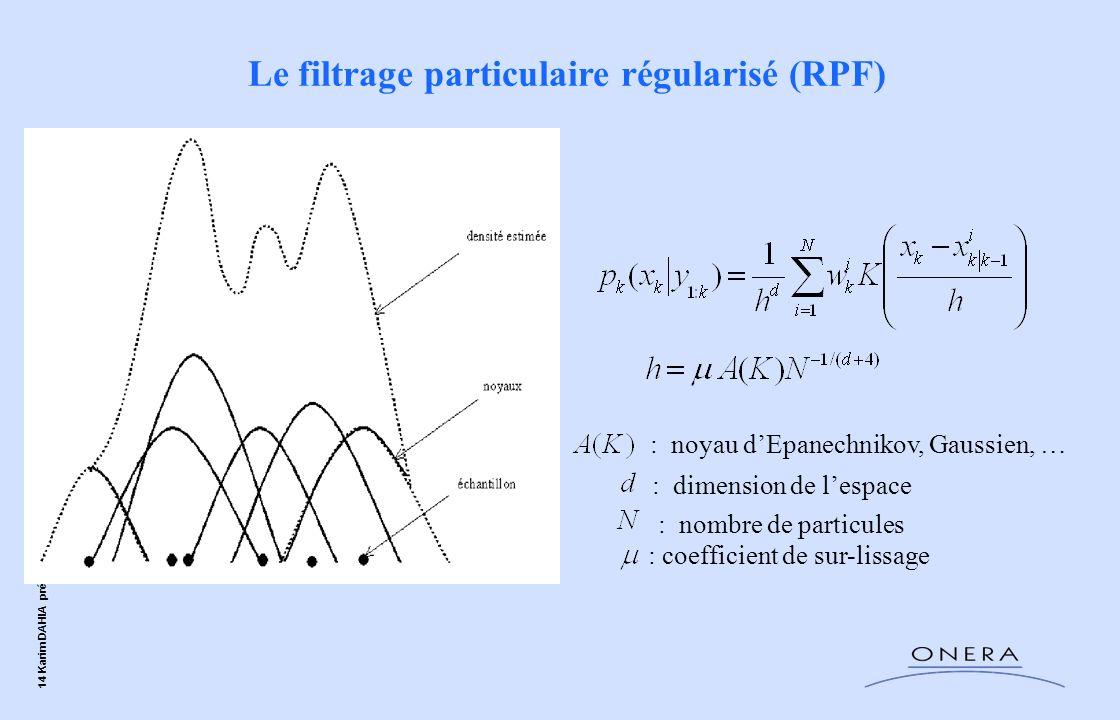 Le filtrage particulaire régularisé (RPF)