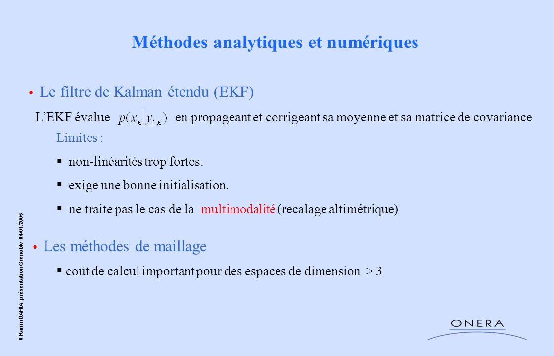 Méthodes analytiques et numériques