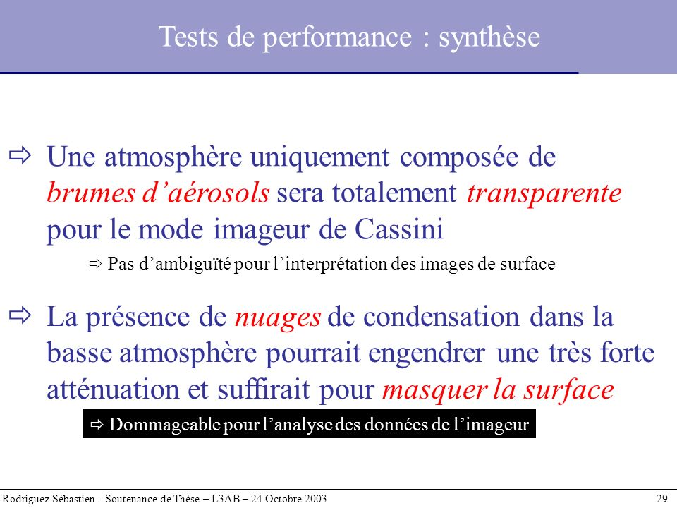 Tests de performance : synthèse