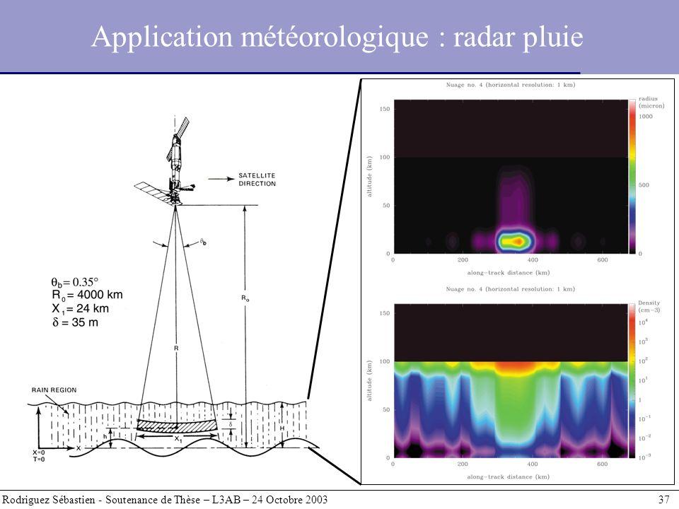 Application météorologique : radar pluie