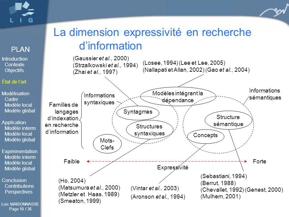 La dimension expressivité en recherche d'information