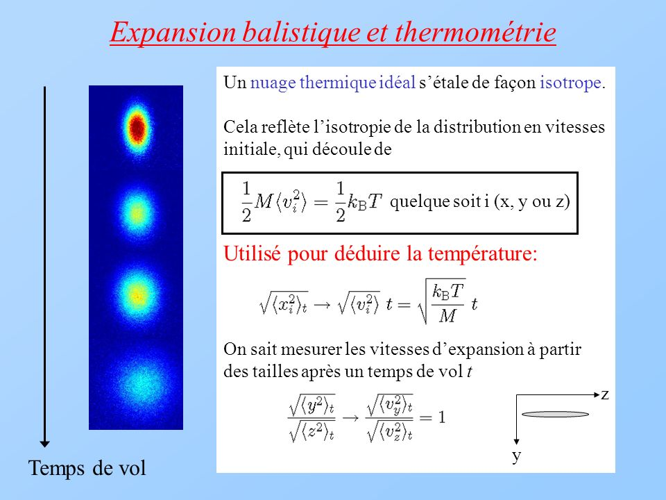 Expansion balistique et thermométrie