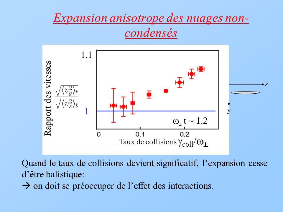 Expansion anisotrope des nuages non-condensés