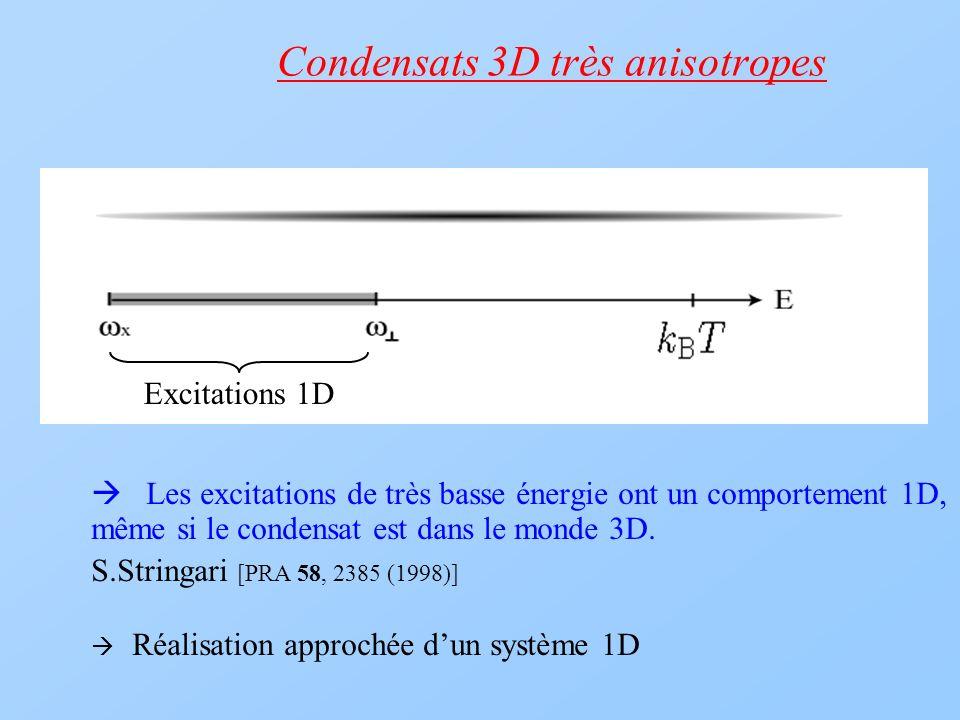 Condensats 3D très anisotropes