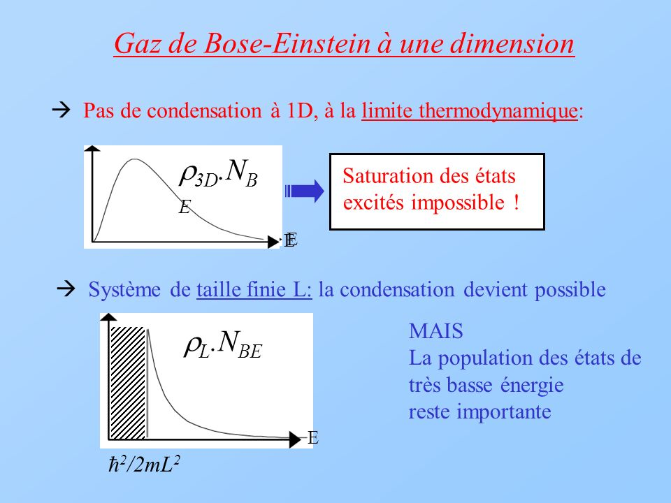 Gaz de Bose-Einstein à une dimension