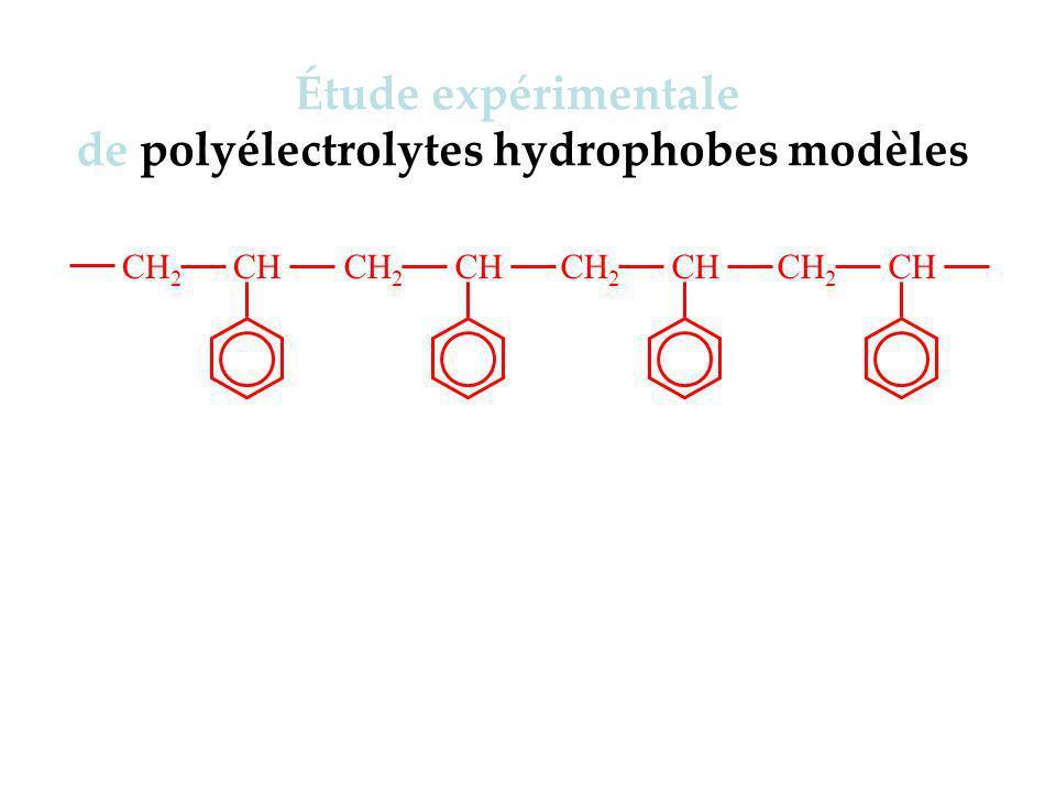 de polyélectrolytes hydrophobes modèles