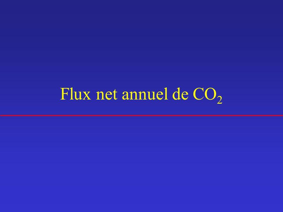 Flux net annuel de CO2