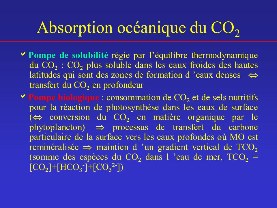 Absorption océanique du CO2
