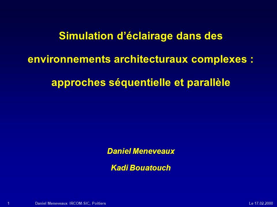 Simulation d'éclairage dans des environnements architecturaux complexes : approches séquentielle et parallèle