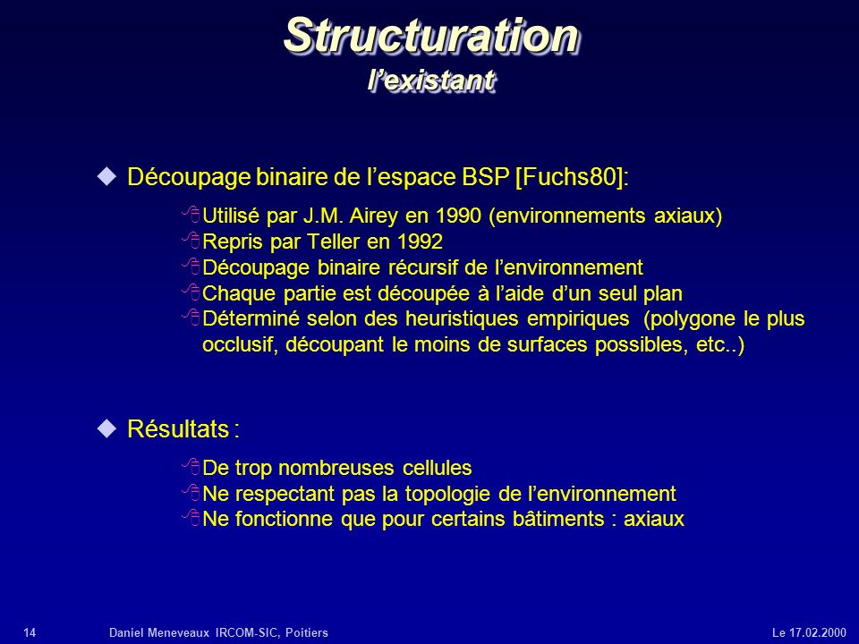 Structuration l'existant