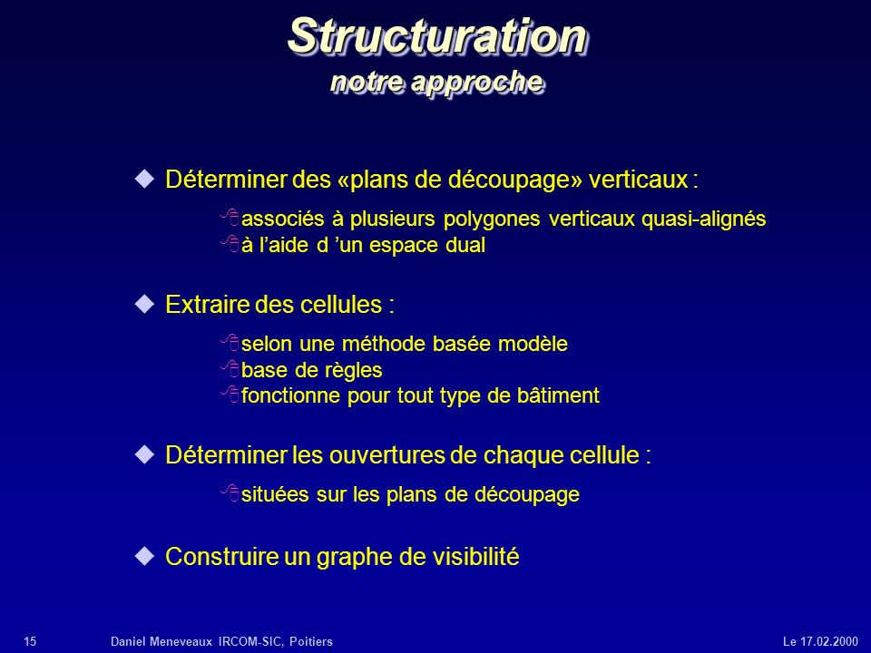 Structuration notre approche