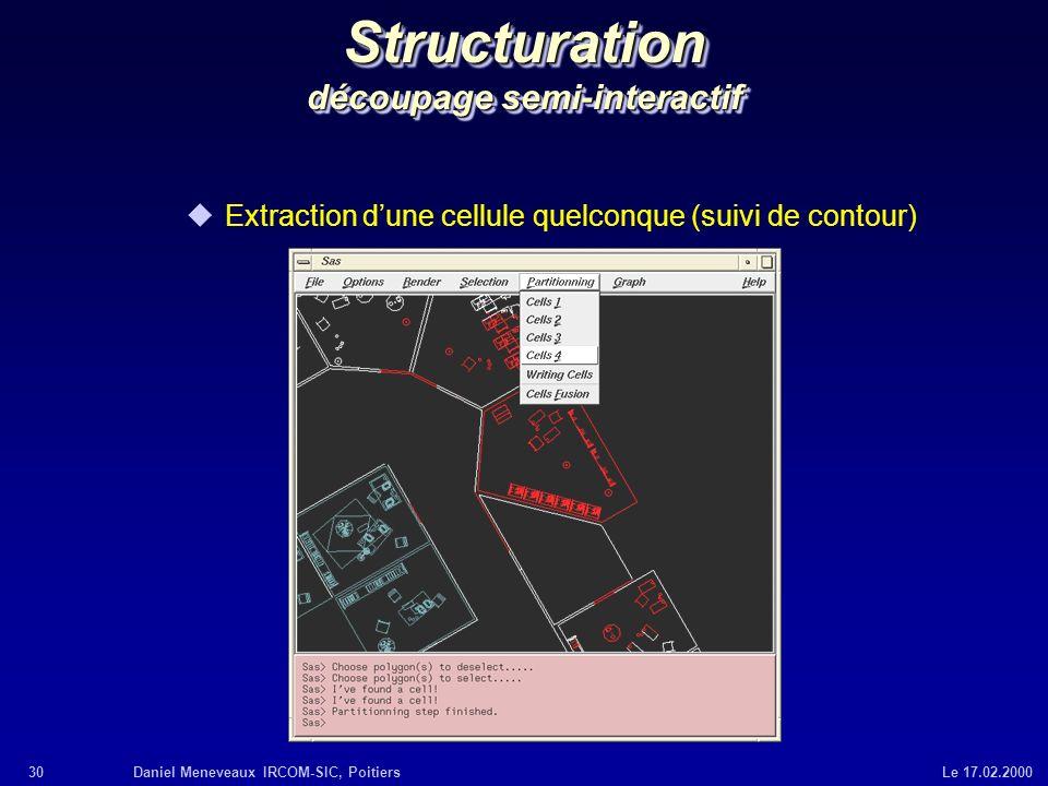 Structuration découpage semi-interactif