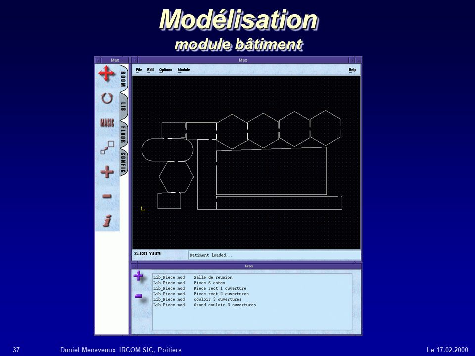 Modélisation module bâtiment