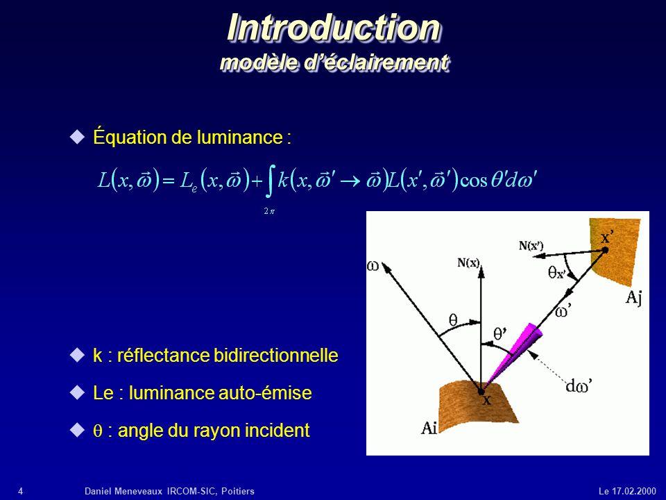Introduction modèle d'éclairement