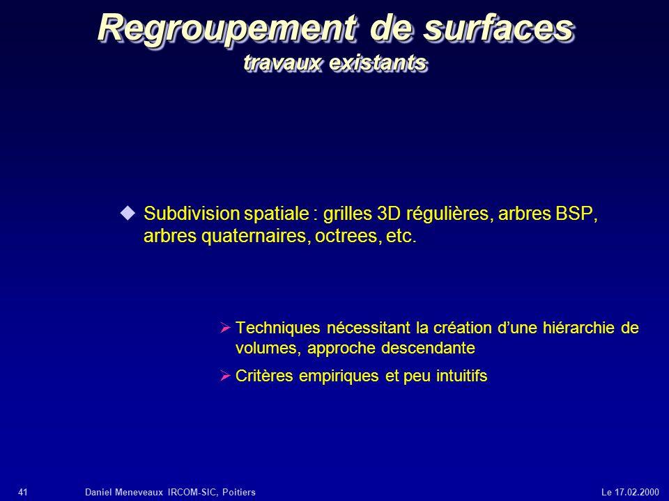 Regroupement de surfaces travaux existants