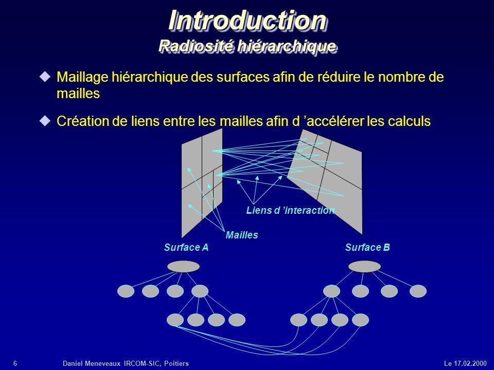 Introduction Radiosité hiérarchique
