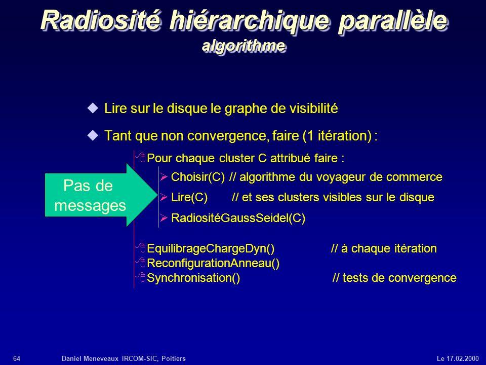 Radiosité hiérarchique parallèle algorithme
