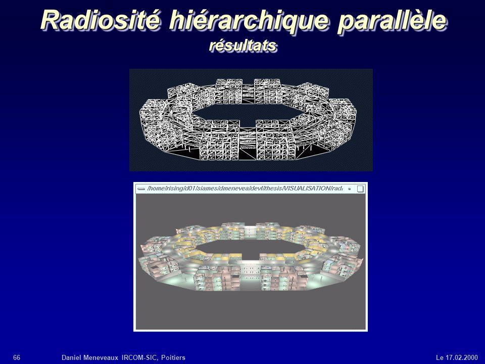 Radiosité hiérarchique parallèle résultats