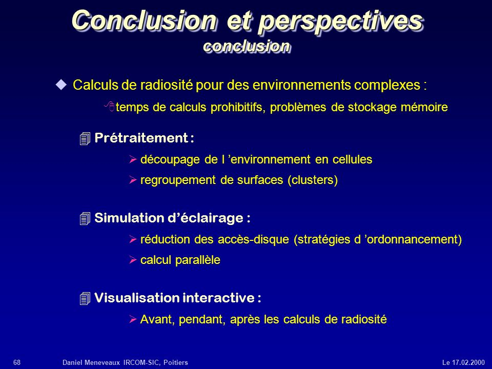 Conclusion et perspectives conclusion