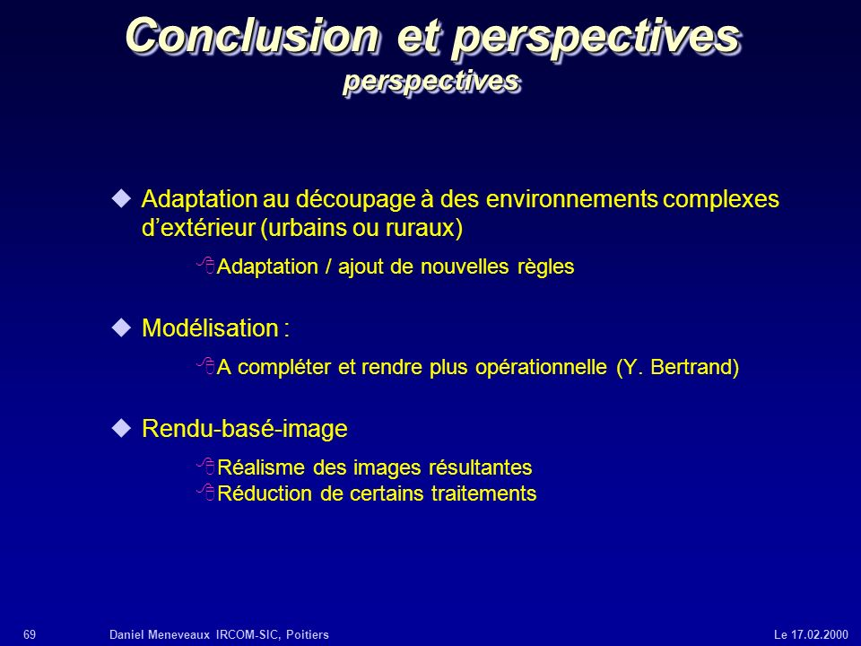 Conclusion et perspectives perspectives