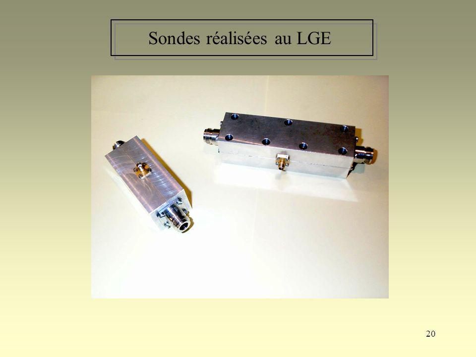 Sondes réalisées au LGE