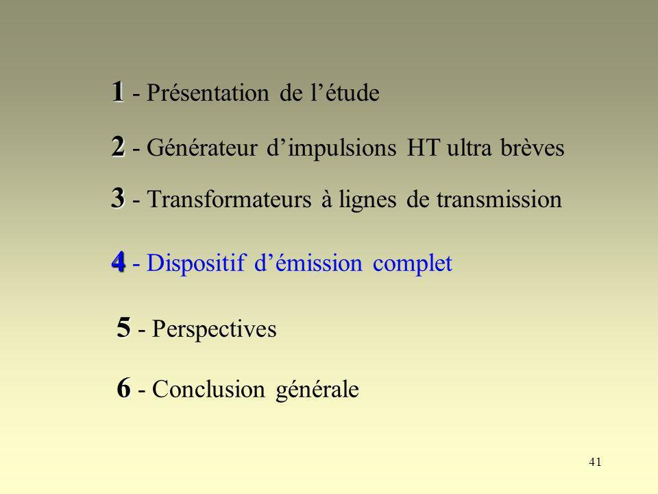 1 - Présentation de l'étude