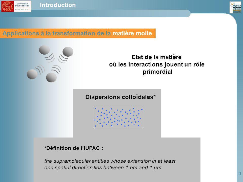 où les interactions jouent un rôle Dispersions colloïdales*