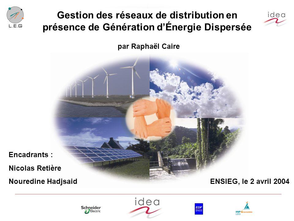 Gestion des réseaux de distribution en présence de Génération d'Énergie Dispersée