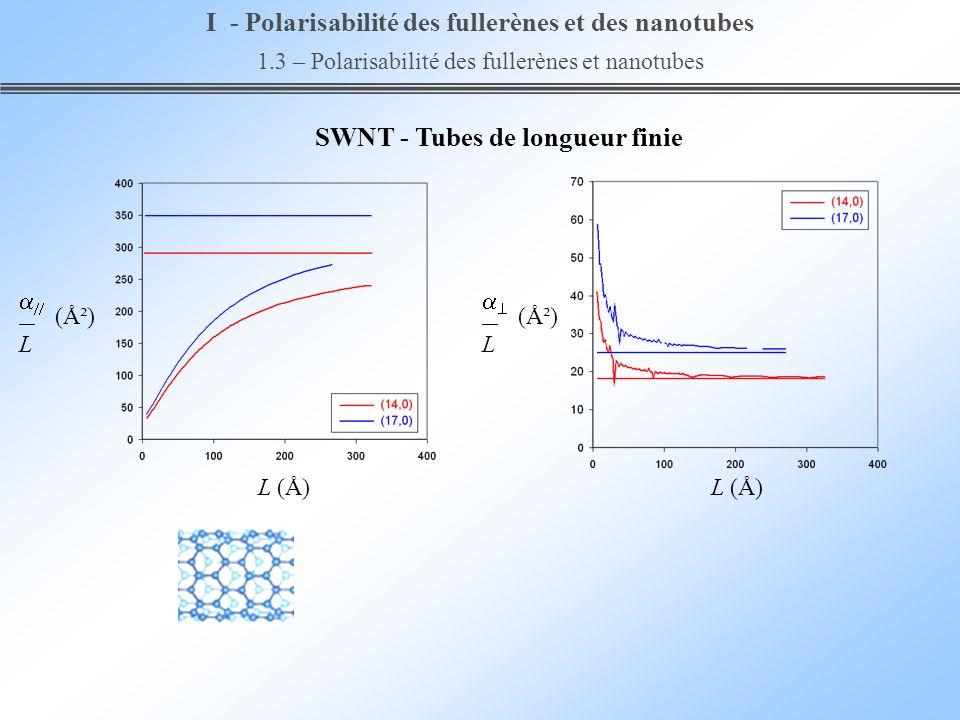 I - Polarisabilité des fullerènes et des nanotubes