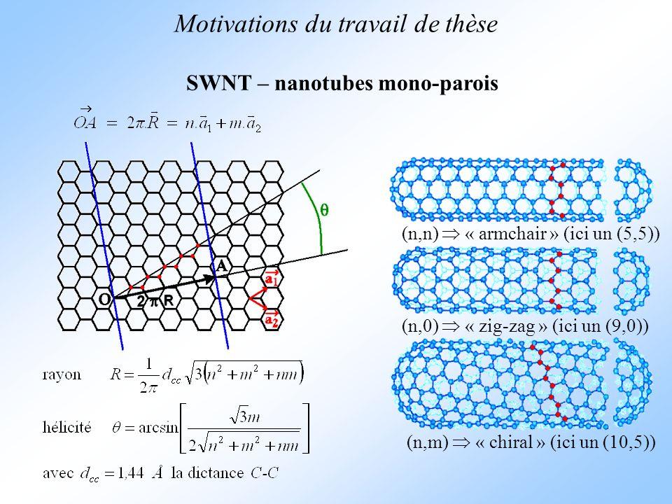 SWNT – nanotubes mono-parois