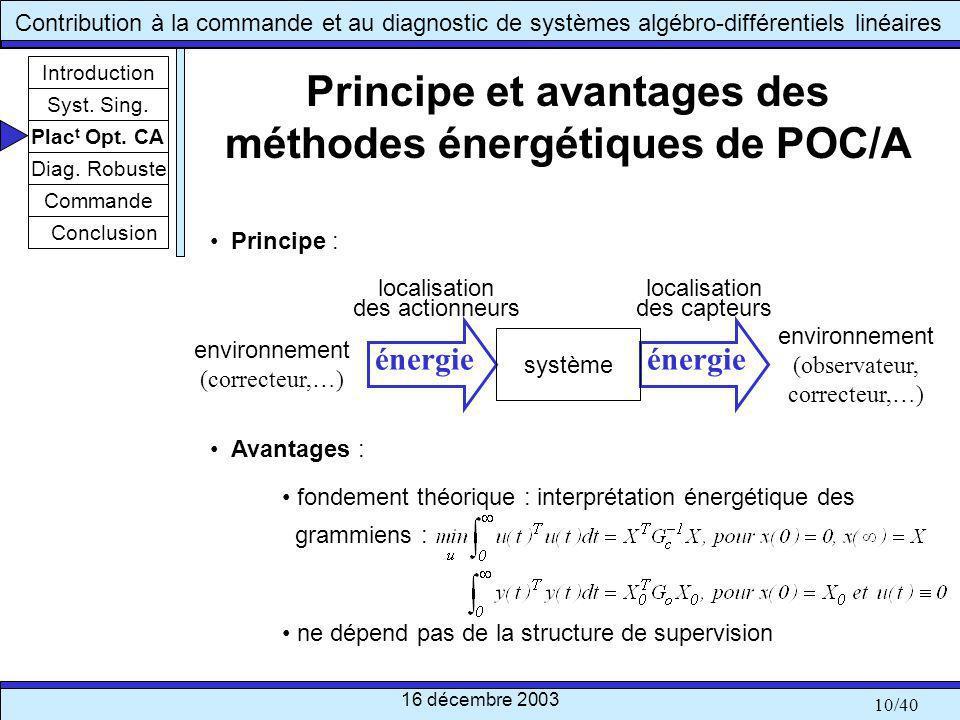 Principe et avantages des méthodes énergétiques de POC/A