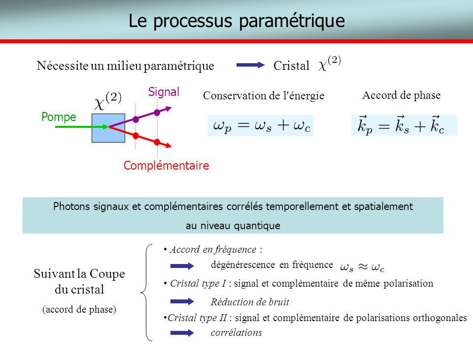 Le processus paramétrique